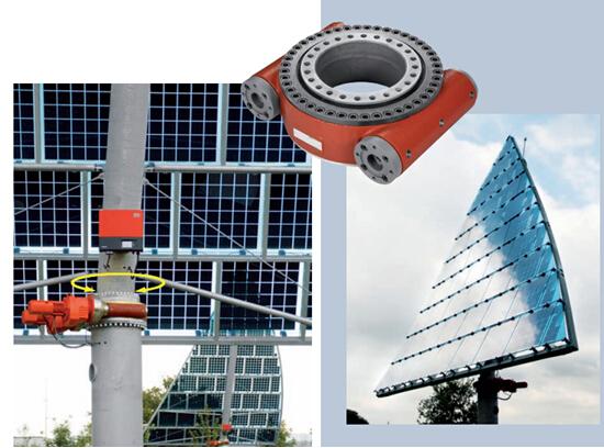 Солнечная система слежения Закрытый корпус поворотного привода с возможностью наклона